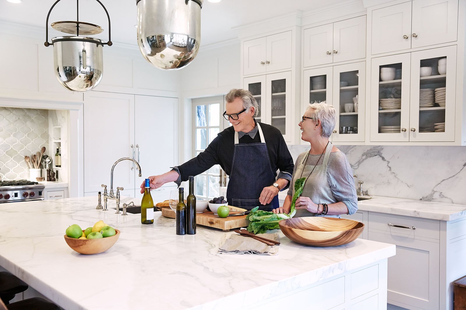 Middle age couple in kitchen  | Dovis Bird Agency Photography