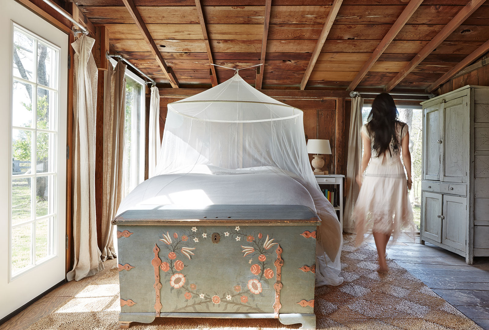 Rustic Farmhouse Bedroom  | Dovis Bird Agency Photography