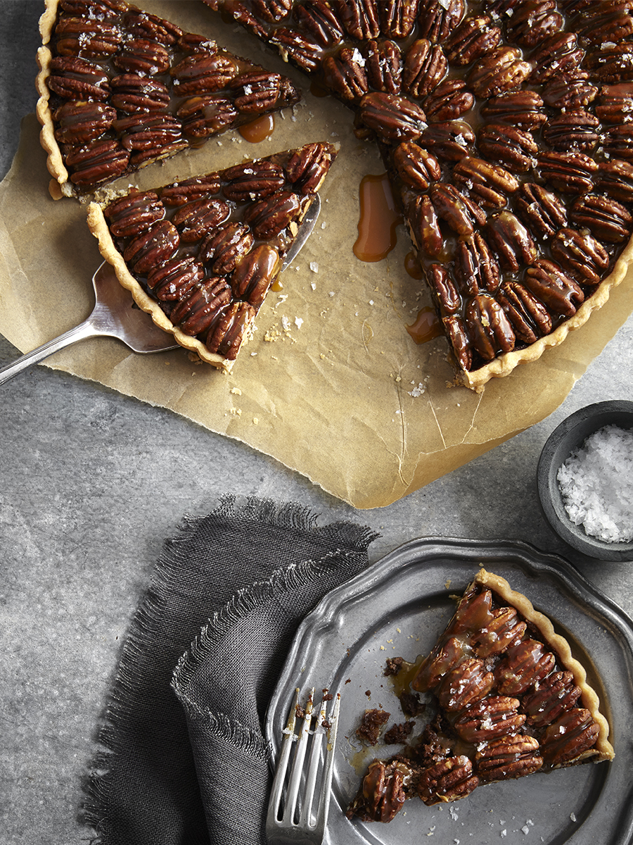 Pecan Pie with slices removed | Dovis Bird Agency