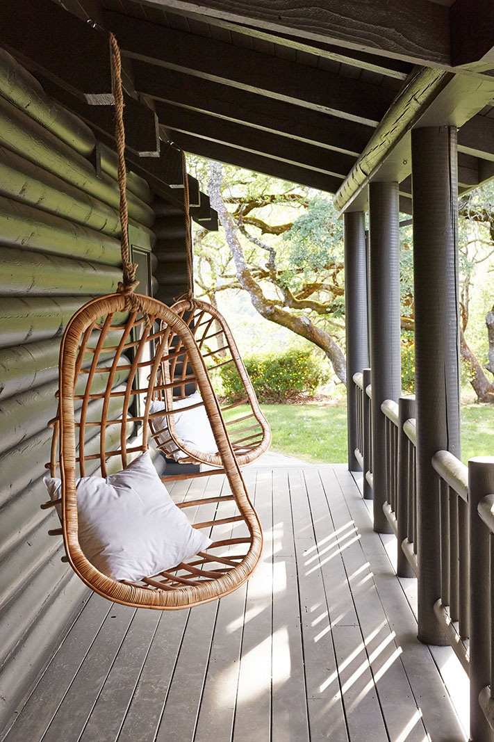 Front Porch Hanging Chair  | Dovis Bird Agency Photography