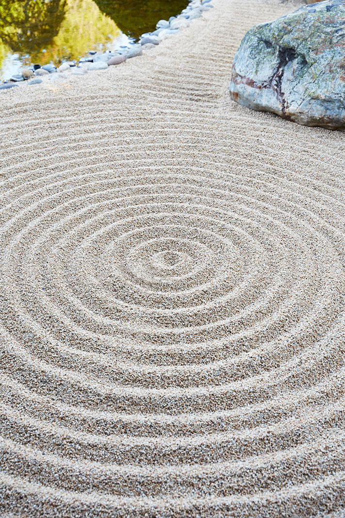 Japanese Sand Art in Rock Garden  | Dovis Bird Agency Photography