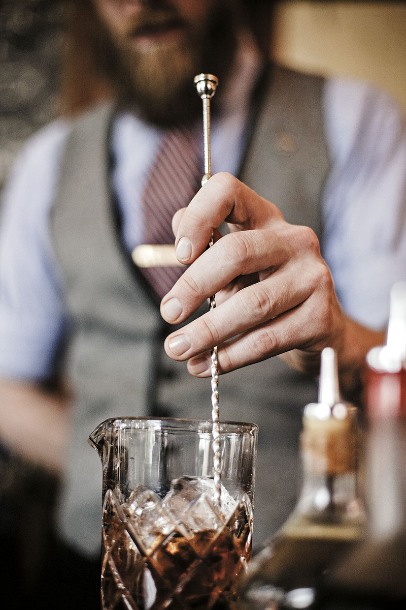 Bartender Mixing Bitters Drinks | Dovis Bird Agency Photography