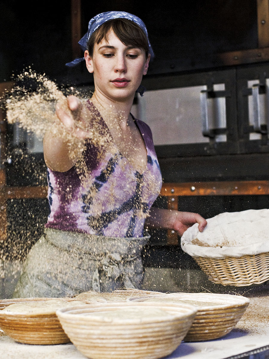 Woman Baking Bread in Kitchen | Dovis Bird Agency Photography