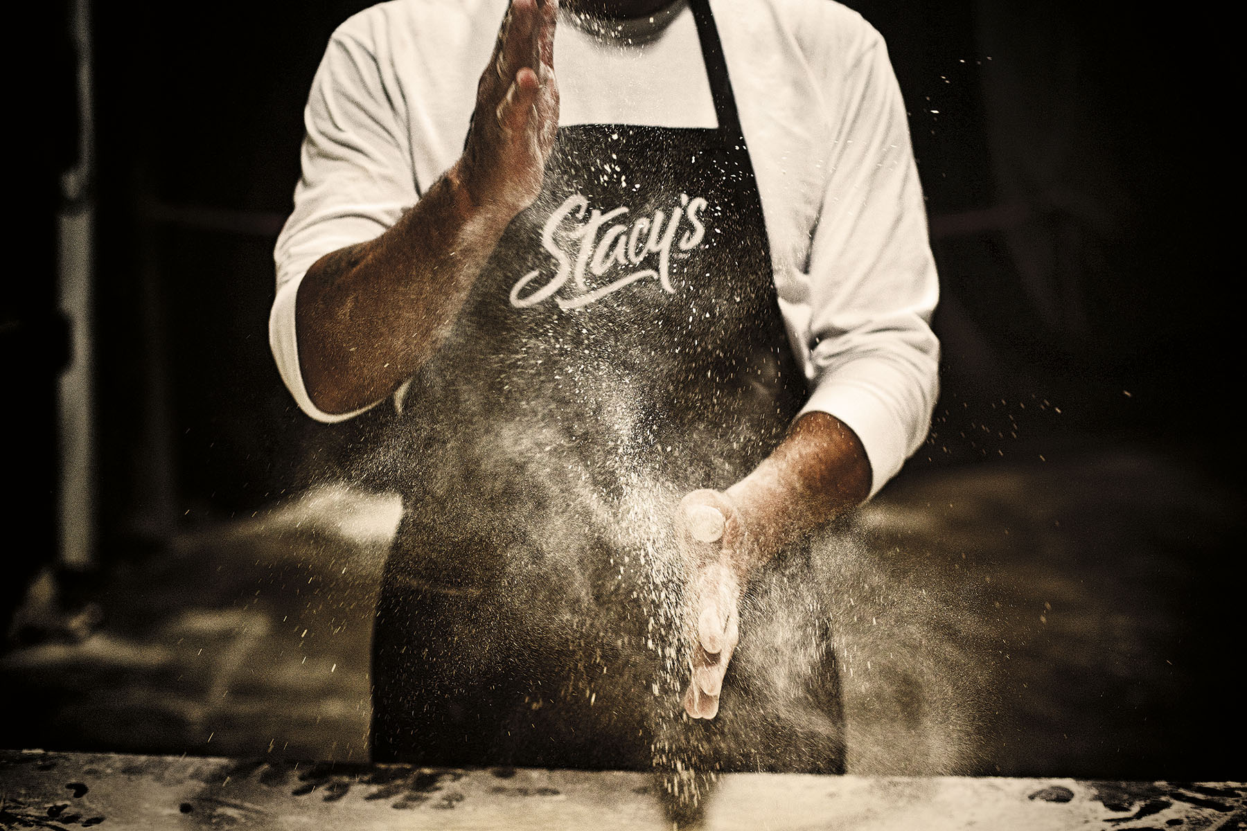 Chef at Stacys Pita Chips Factory | Dovis Bird Agency Photography