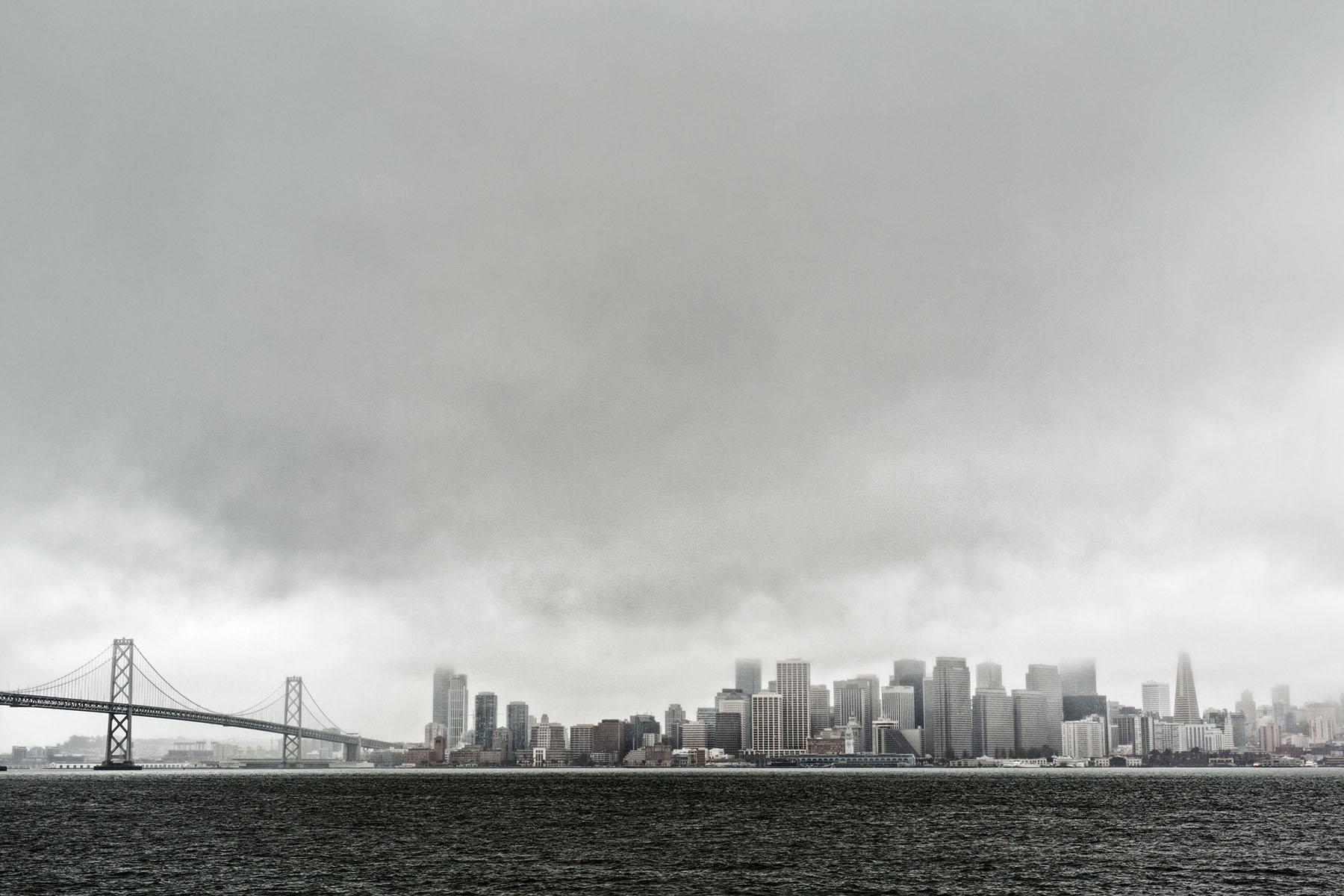 San Francisco Skyline in fog | Dovis Bird Agency Photography