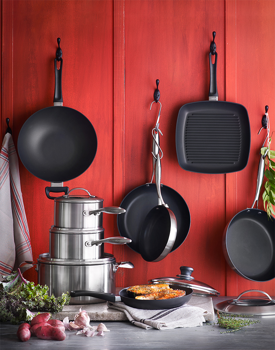 Kitchen pots + pans hanging | Dovis Bird Agency
