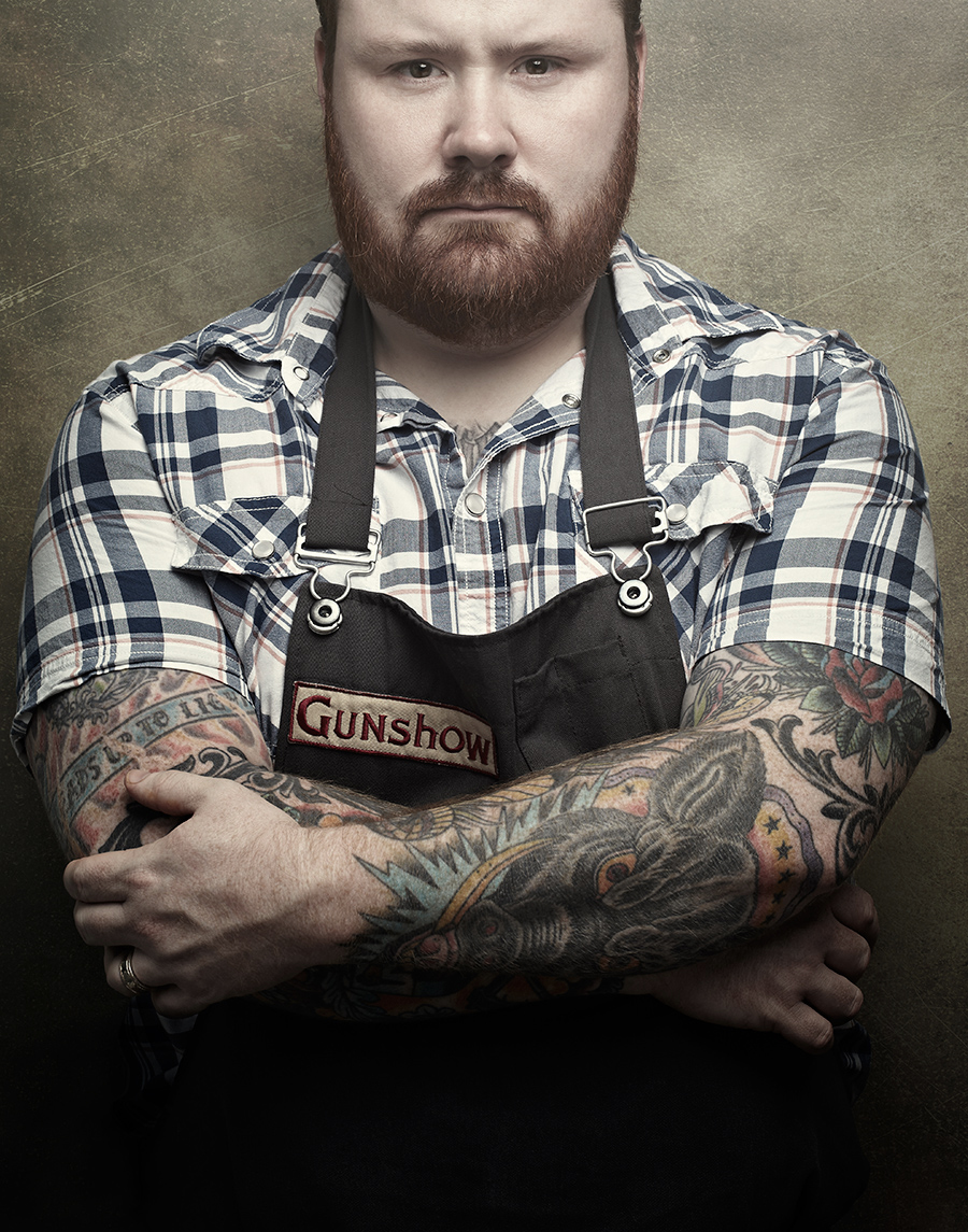 Portrait of chef Kevin Gillespie of The Gunshow  | Dovis Bird Agency