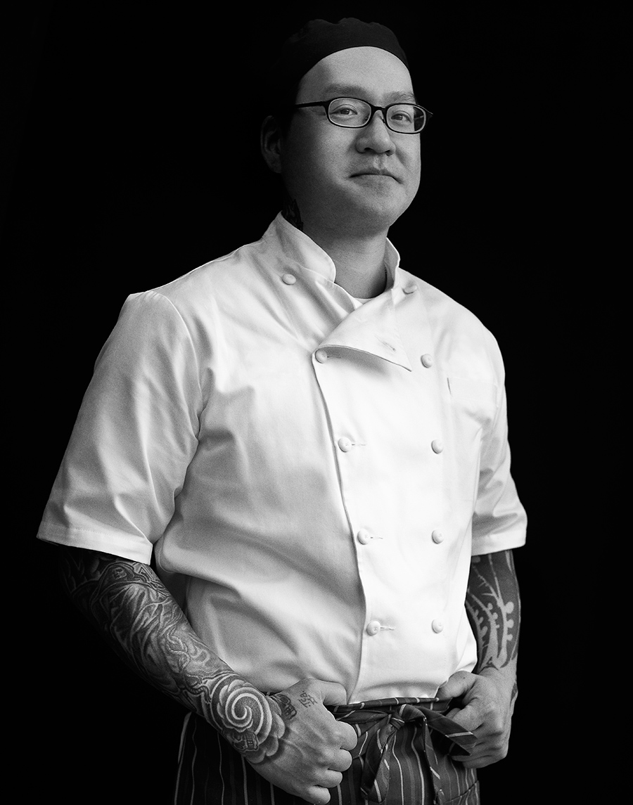 Portrait of chef with tattoos  | Dovis Bird Agency
