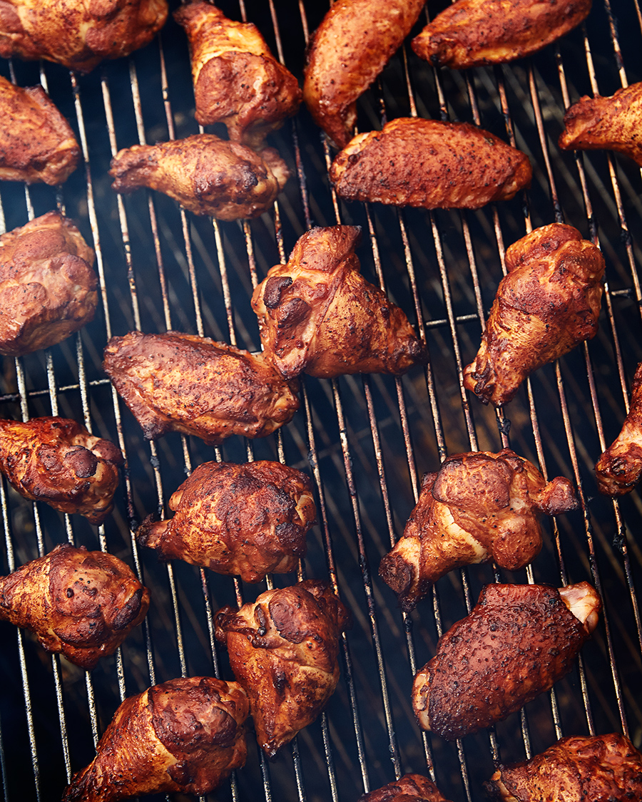 Barbecue chicken cooking on grille  | Dovis Bird Agency