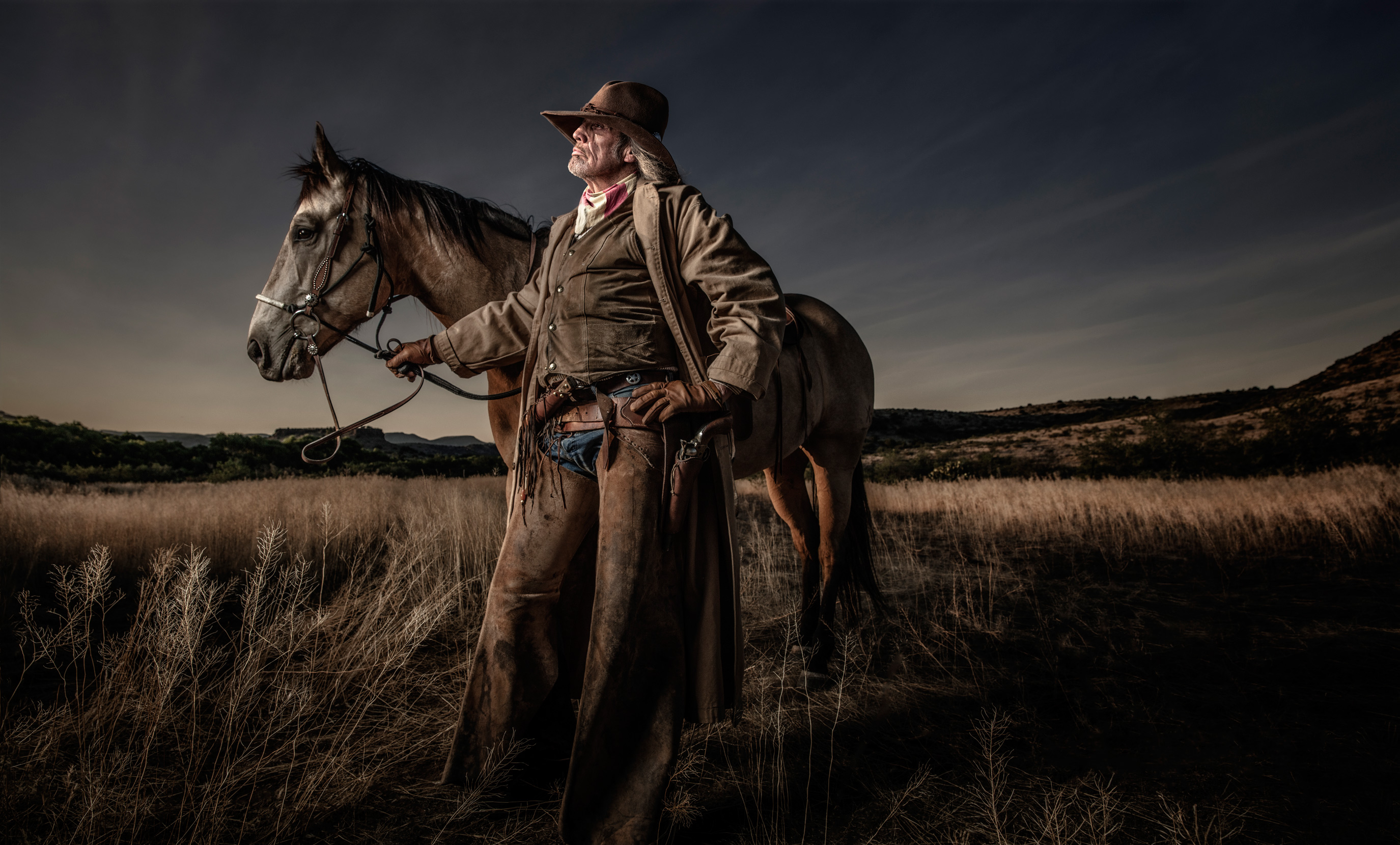 Cowboy with Horse | Dovis Bird Agency Photography