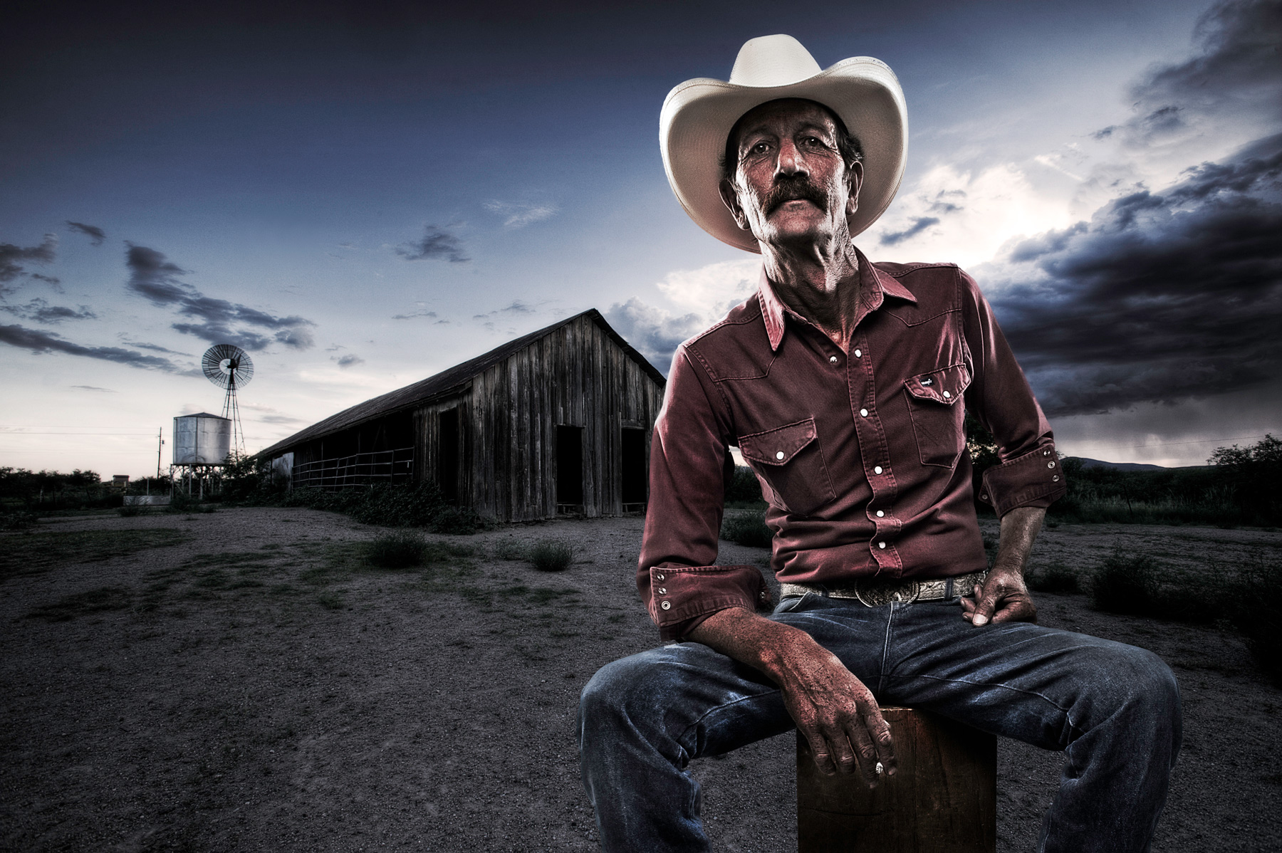 Cowboy Portrait | Dovis Bird Agency Photography