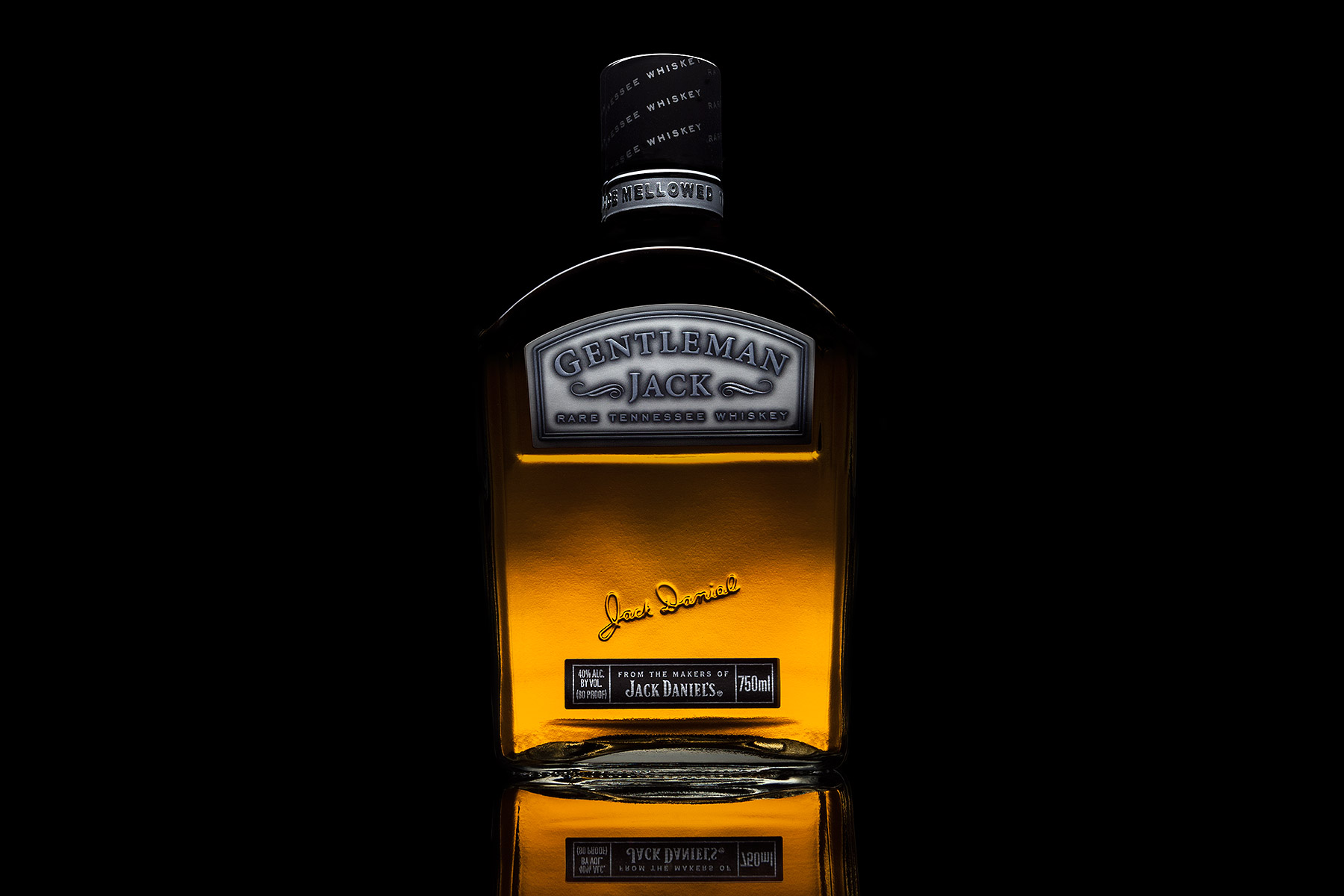 Gentleman Jack Daniels Bottle | Dovis Bird Agency Reps
