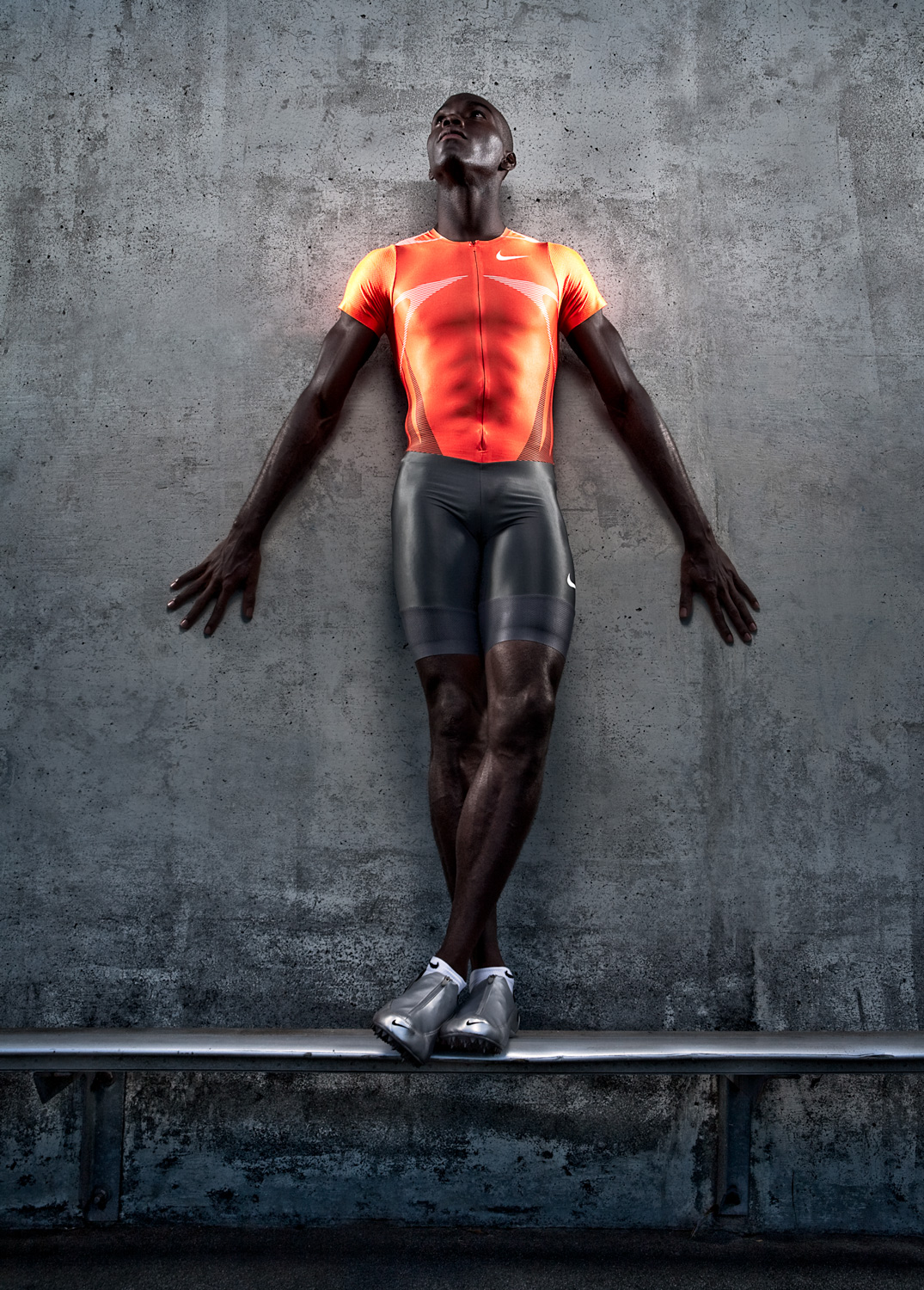 Athlete Kerron Clement portrait | Dovis Bird Agency Photography