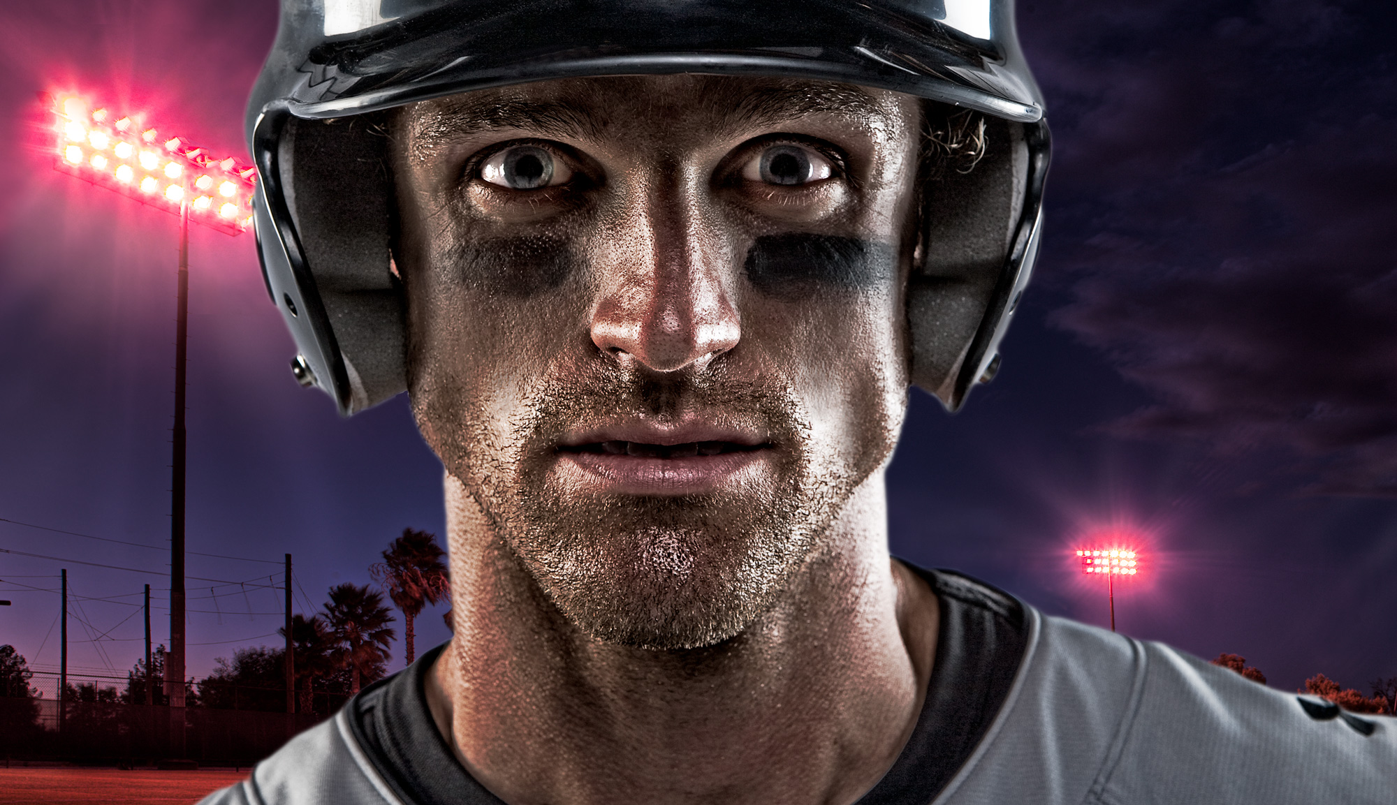 Portrait of Baseball Player | Dovis Bird Agency Photography