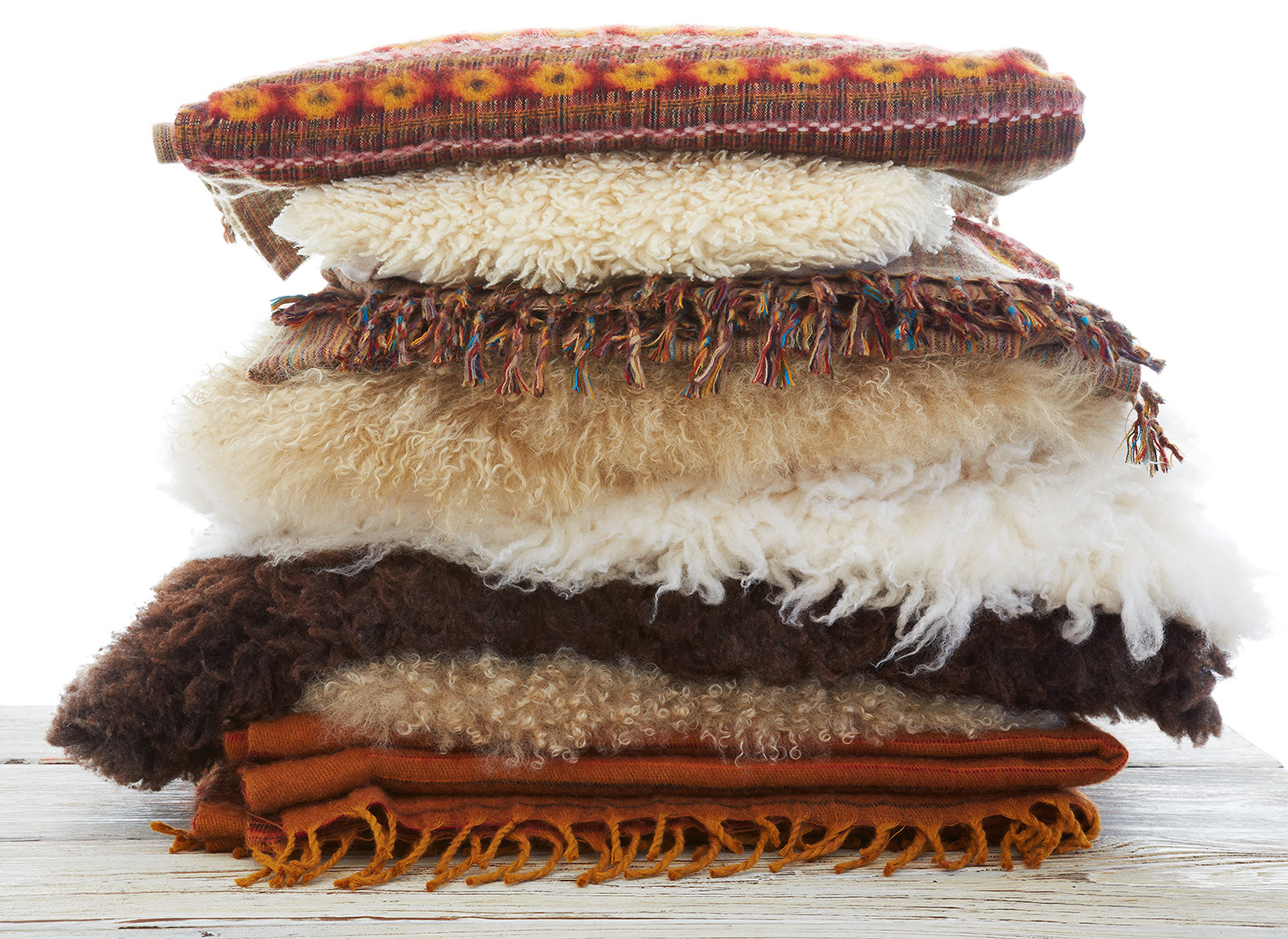 Sherpa Wool Throw Pillows  | Dovis Bird Agency Photography