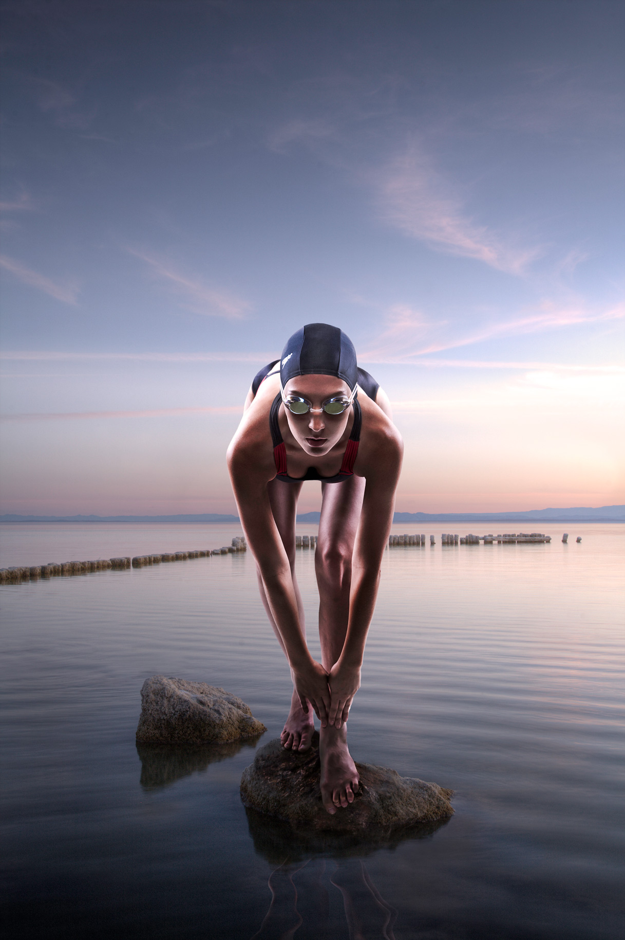 Portrait of Female Swimmer | Dovis Bird Agency Photography