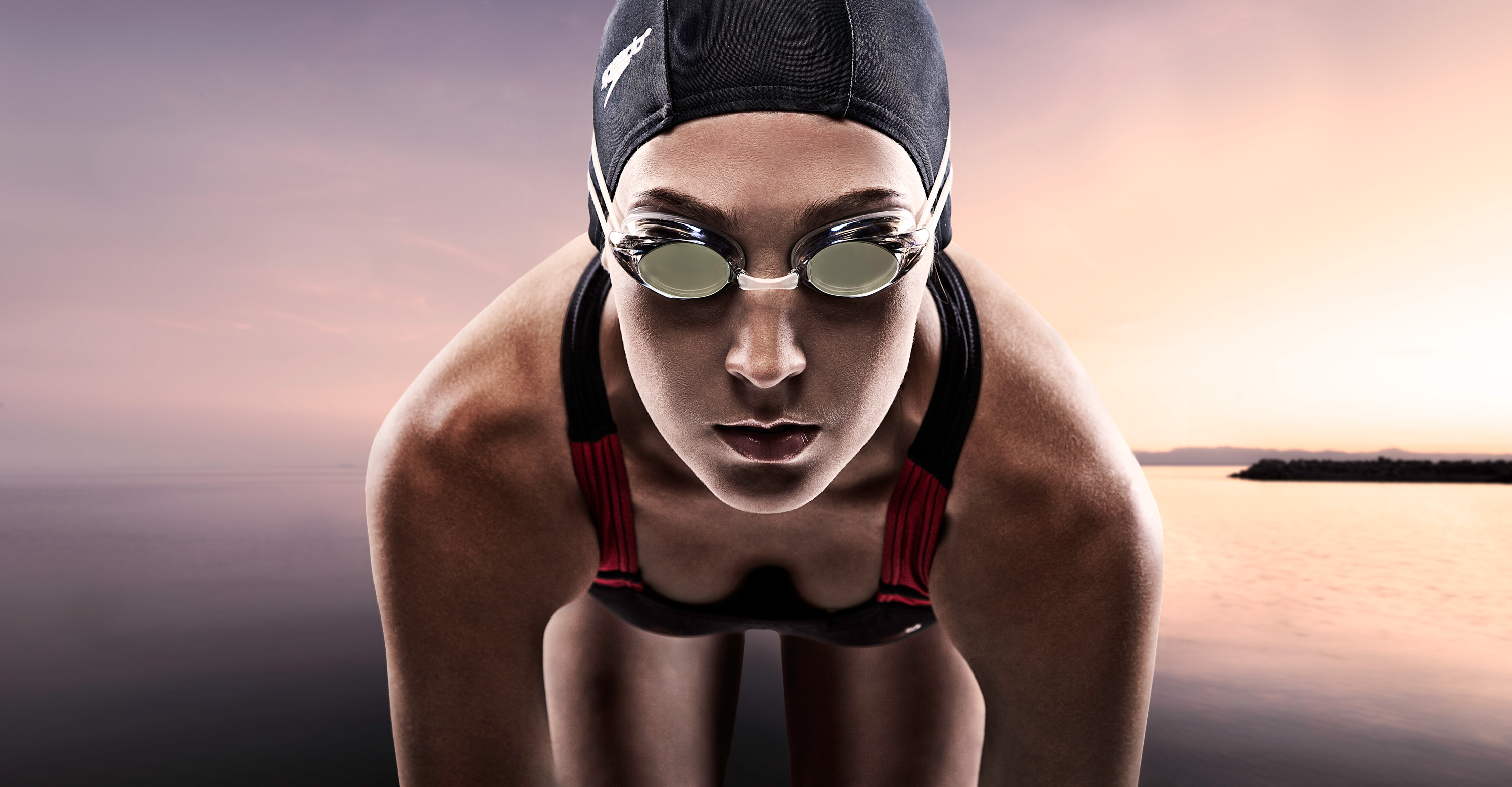 Swimmer with Goggles | Dovis Bird Agency Photography