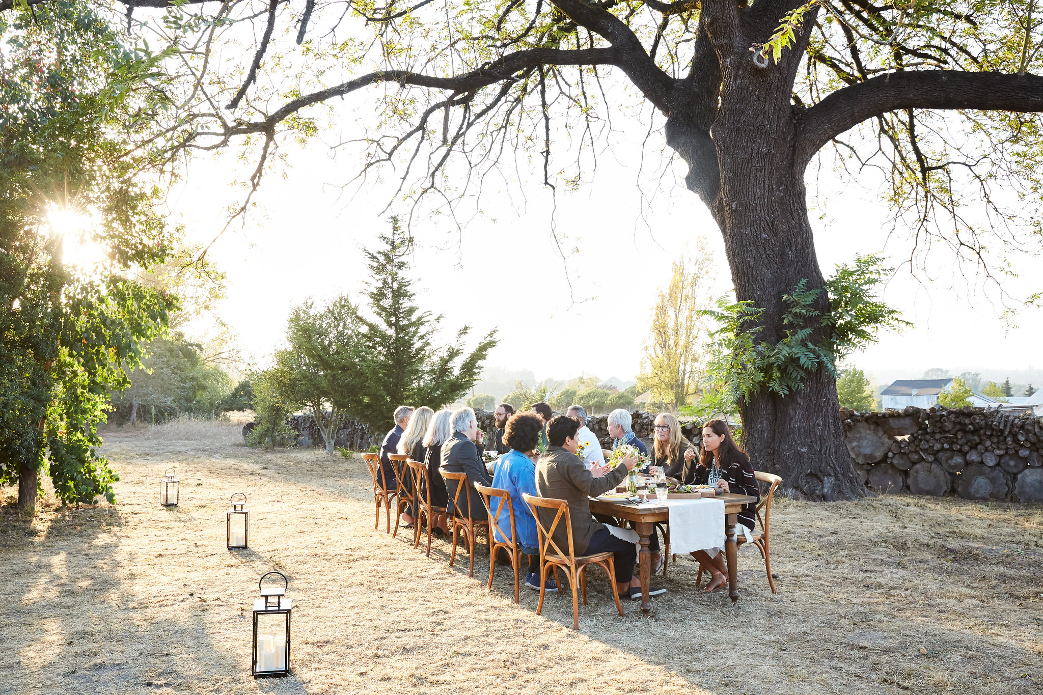 Farm to table dinner party