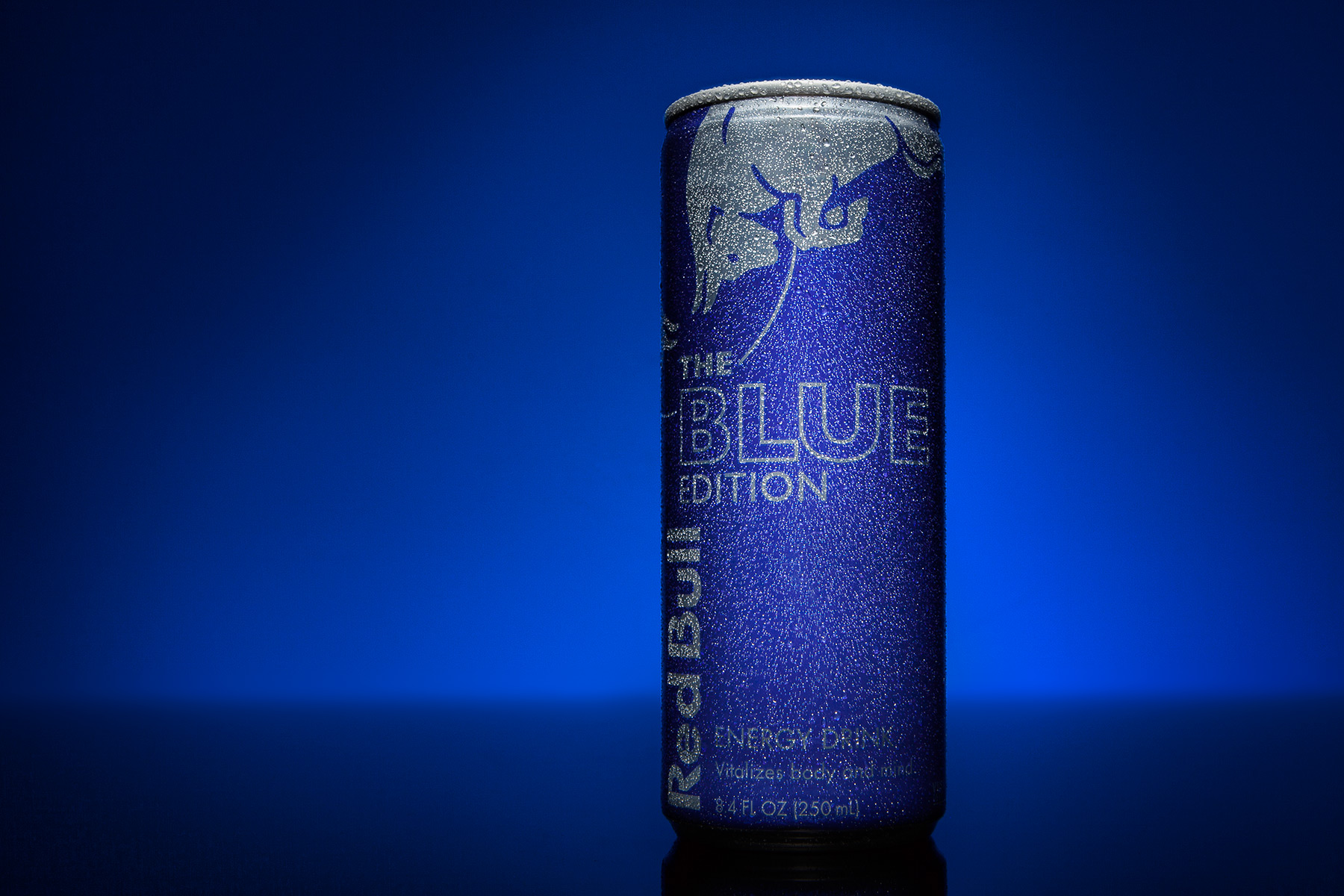Red Bull Blue Edition Can | Dovis Bird Agency Reps