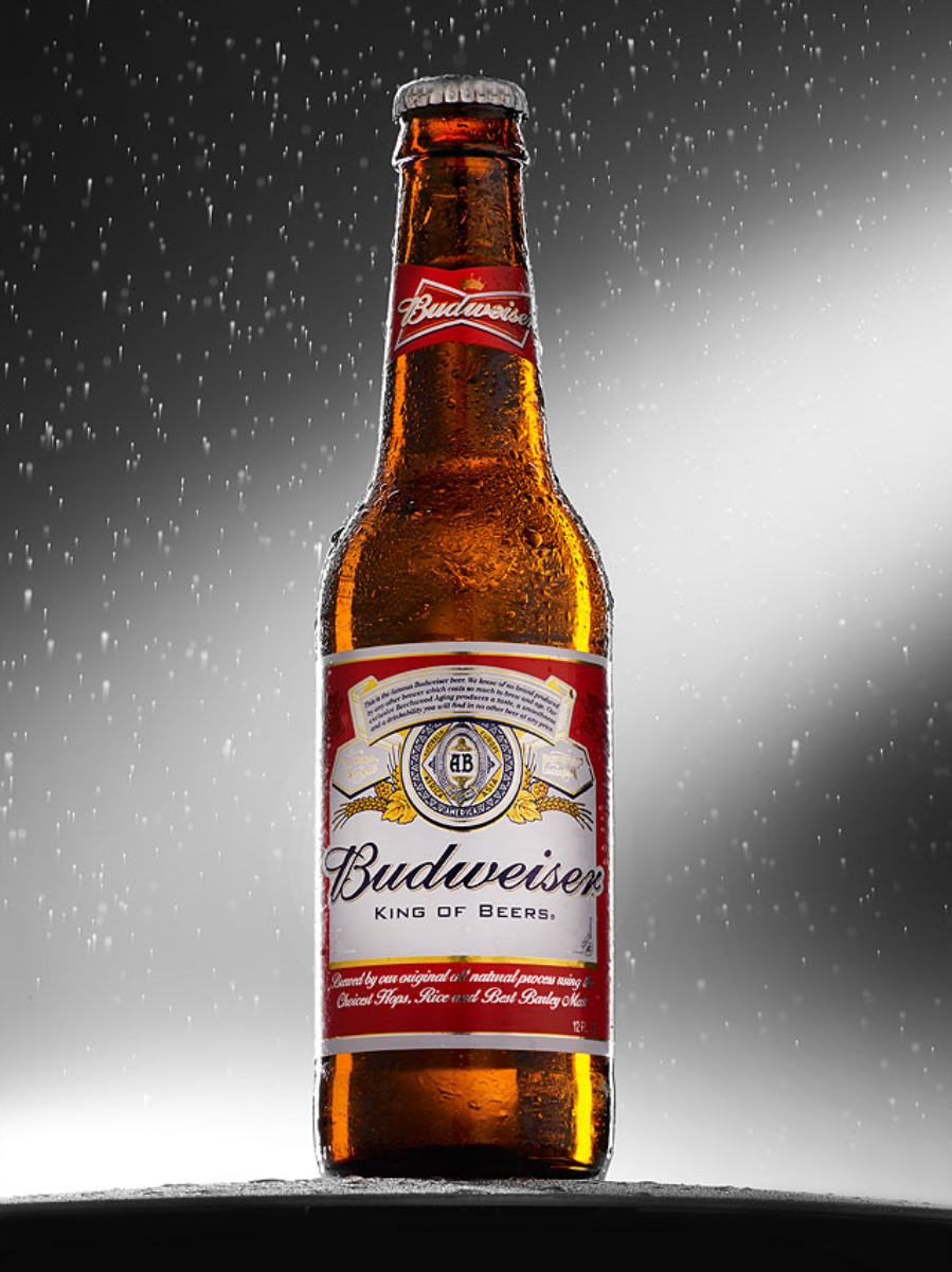 Budweiser bottle | Dovis Bird Agency Photography