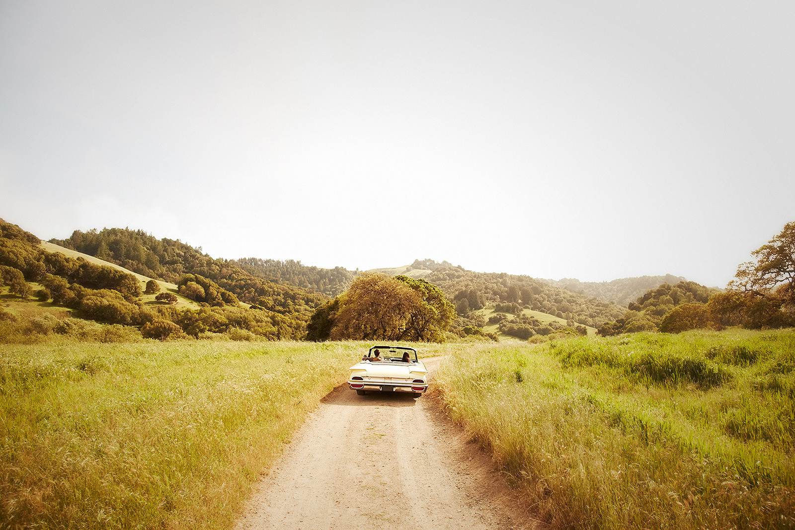 Driving down country road in convertible  | Dovis Bird Agency Photography