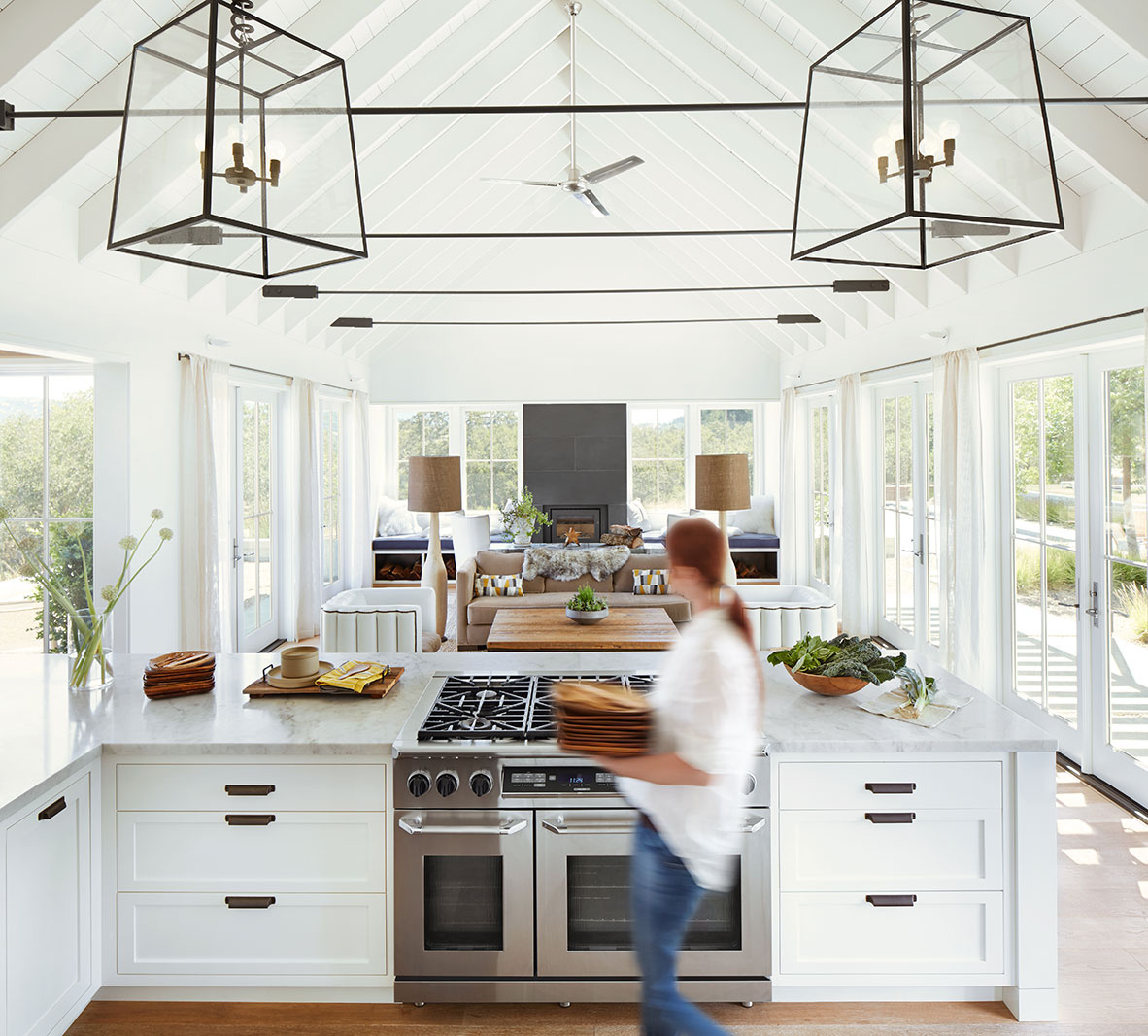 Sonoma farmhouse kitchen interior  | Dovis Bird Agency