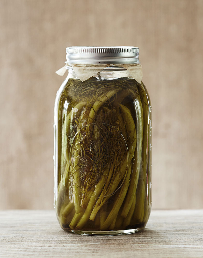 Mason Jar of Pickled Green Beans  | Dovis Bird Agency Photography