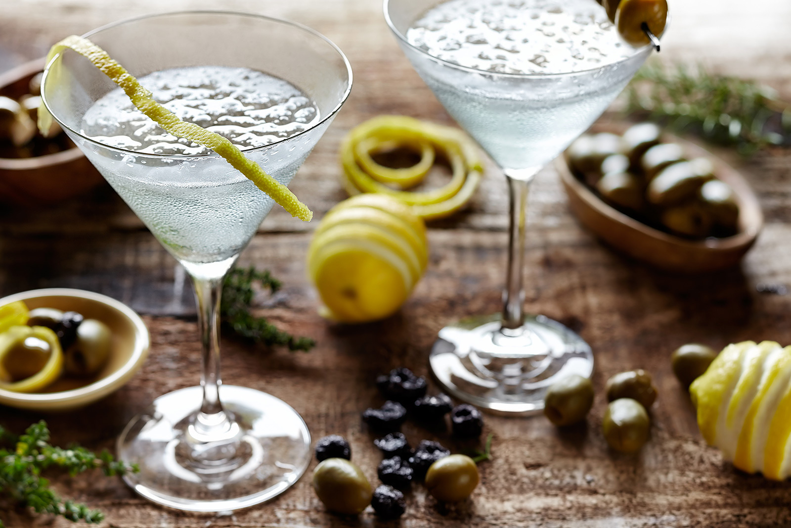 Martini Glass With Olives  | Dovis Bird Agency Photography
