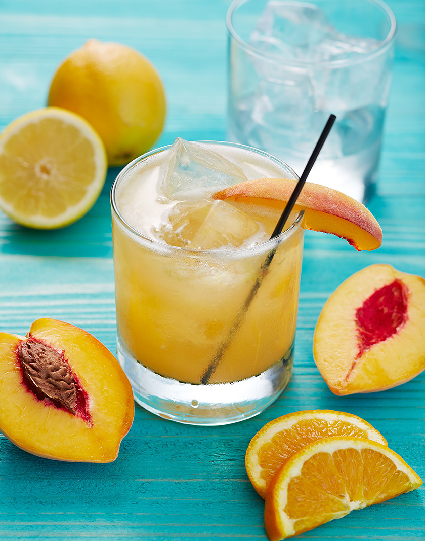 Peach Drink in Glass  | Dovis Bird Agency Photography