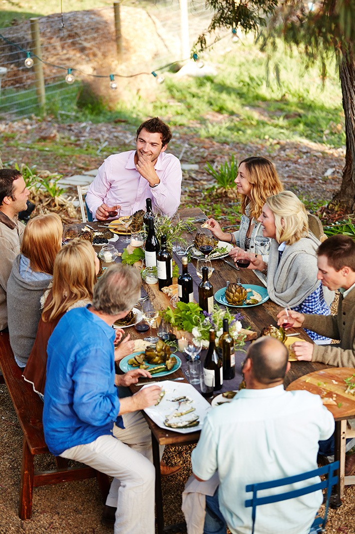 Friends dining Farm to Table Outdoors  | Dovis Bird Agency Photography