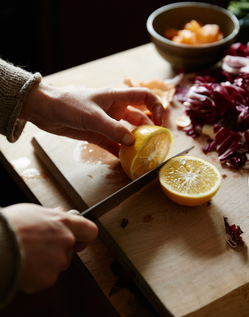 Slicing Lemons on Cutting Board  | Dovis Bird Agency Photography