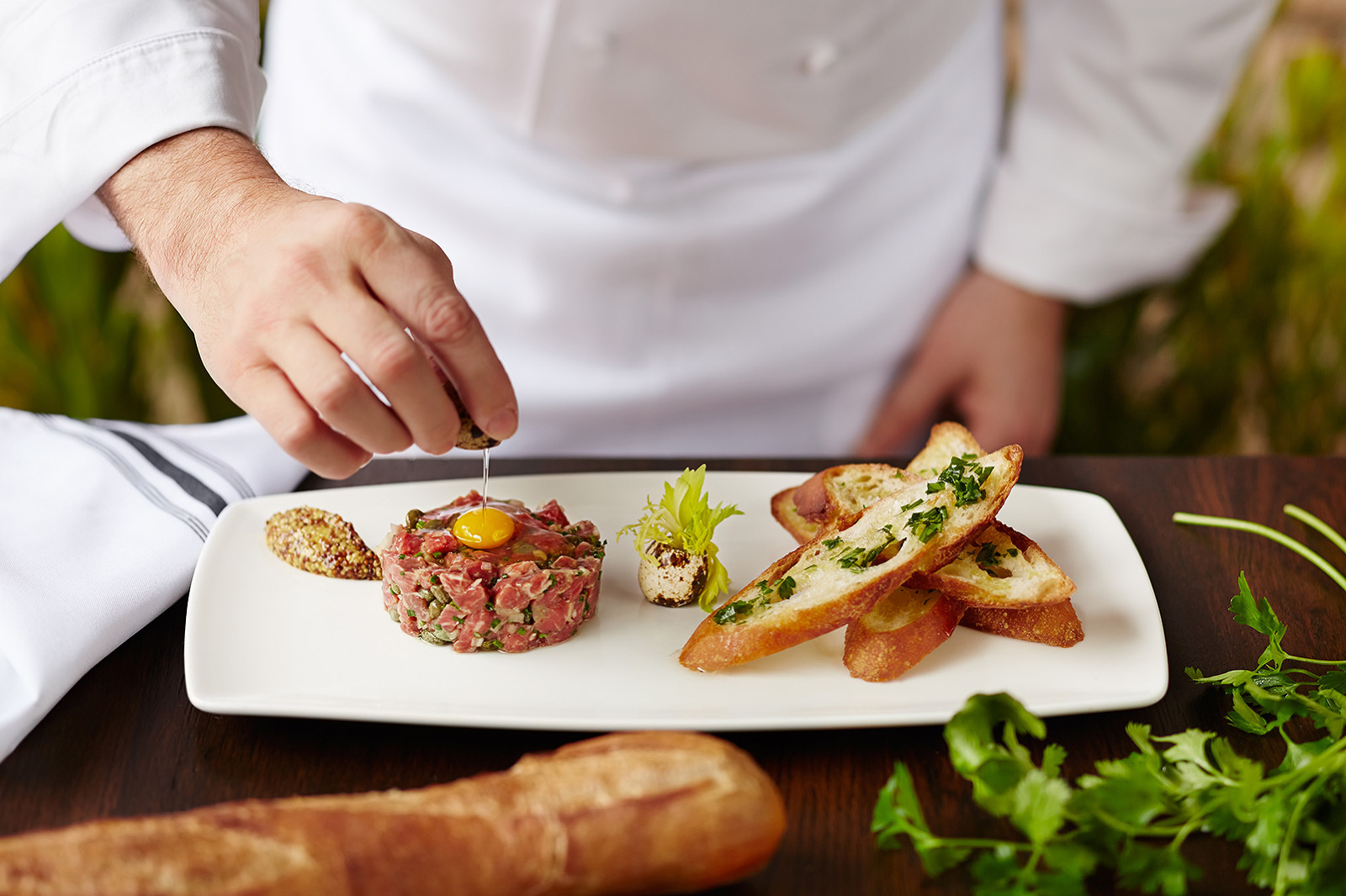Chef plate of Steak Tartare  | Dovis Bird Agency Photography