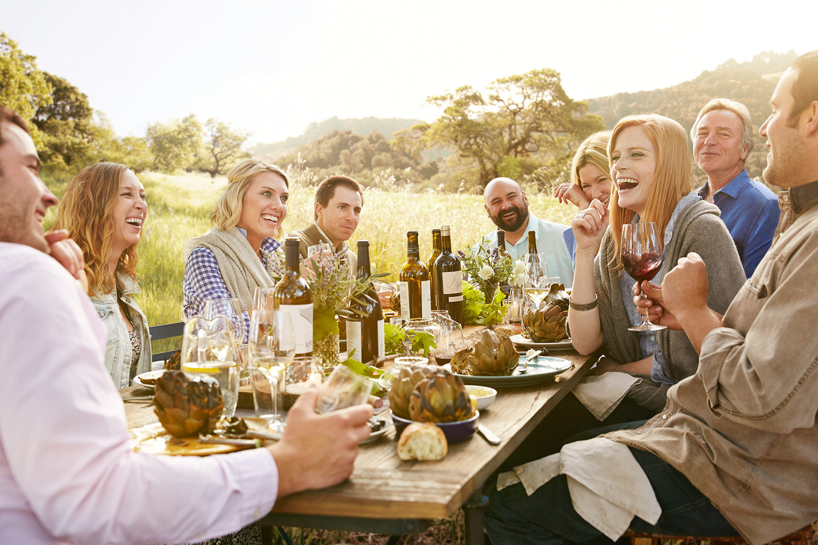 Farm to Table Dining with friends  | Dovis Bird Agency Photography