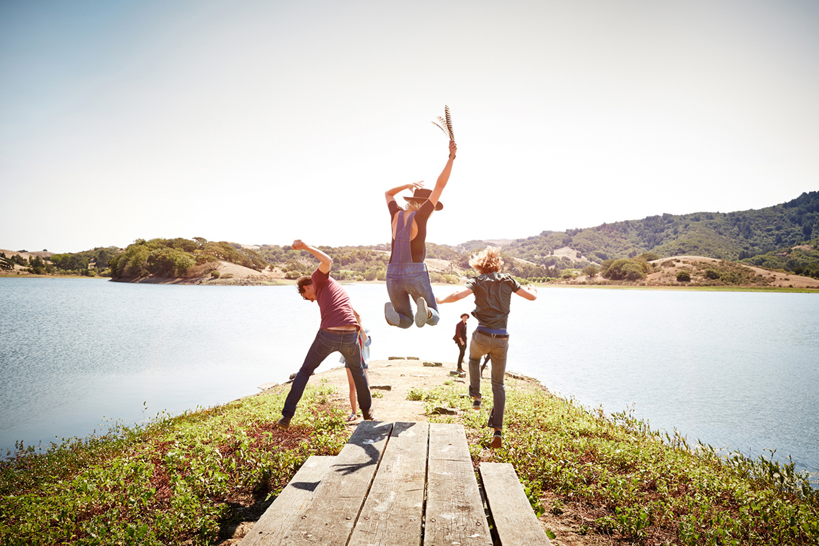 Hipsters jumping for joy  | Dovis Bird Agency Photography