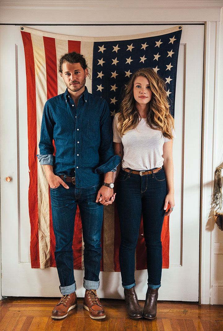 Young hipster couple with American Flag  | Dovis Bird Agency Photography