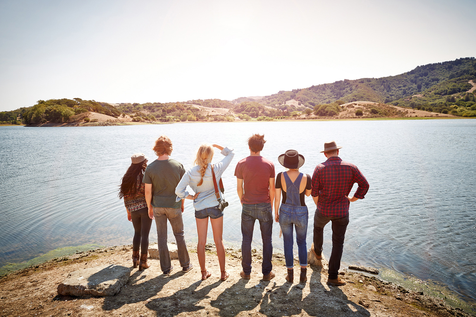 Group of hipsters at lake  | Dovis Bird Agency Photography