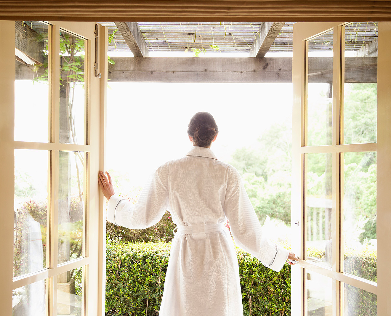 Woman in bathrobe at resort spa  | Dovis Bird Agency Photography