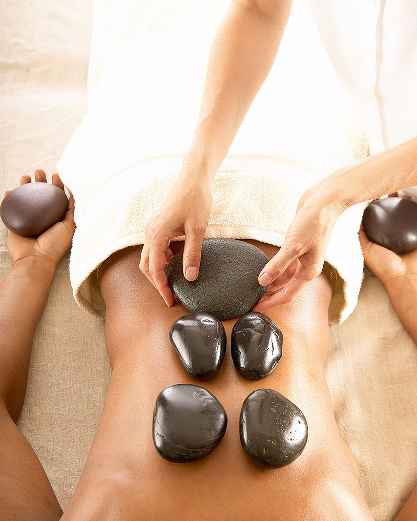 Hot stone massage treatment  | Dovis Bird Agency Photography