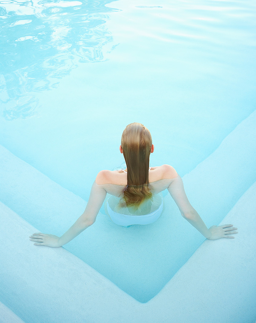 Woman in swimming pool  | Dovis Bird Agency Photography