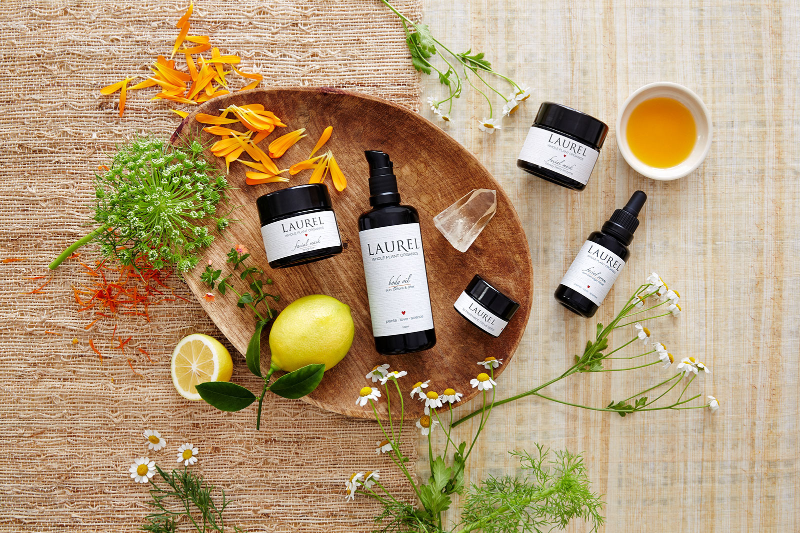 Laurel Organic Skin Care Products  | Dovis Bird Agency Photography