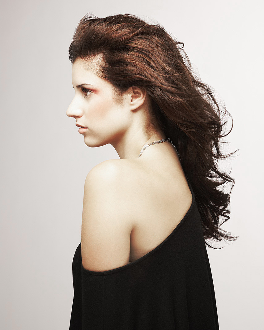 Profile of Brunette Woman  | Dovis Bird Agency Photography