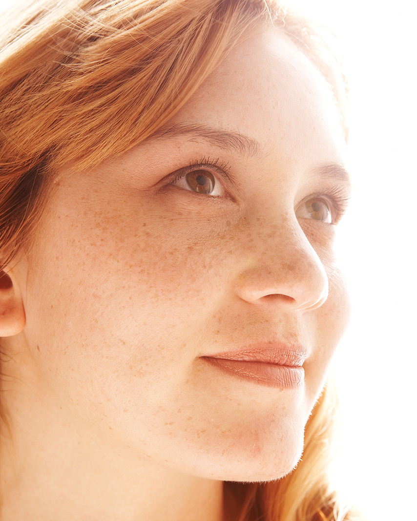 Closeup Portrait Of Freckle Faced Woman  | Dovis Bird Agency Photography